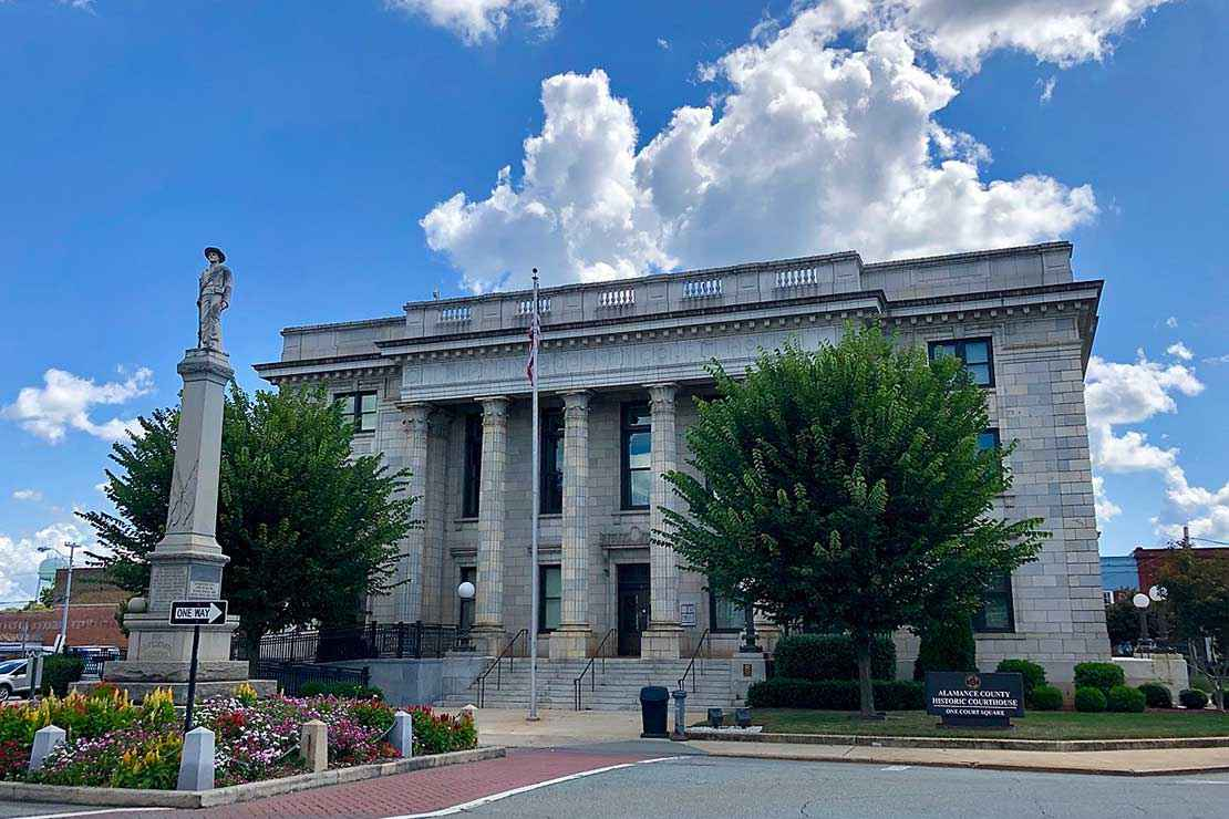 Alamance Colunty courthouse