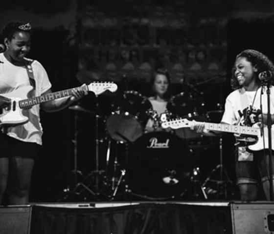 Girls Rock Playing guitars