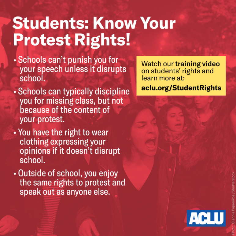 Students Protest Rights