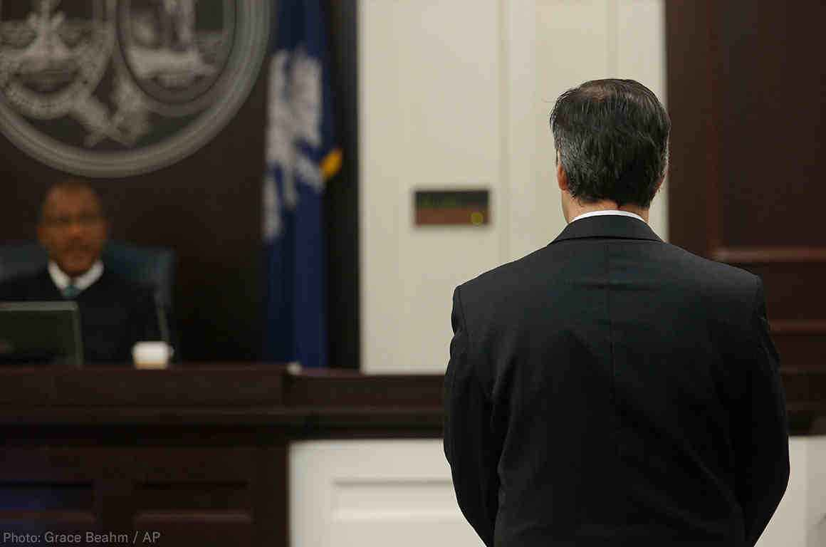 Michael Slager before judge