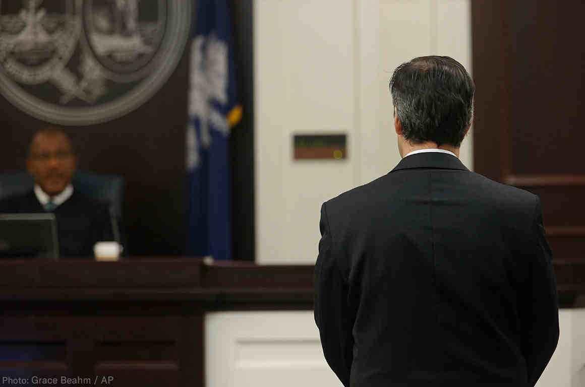 Michael Slager before judge