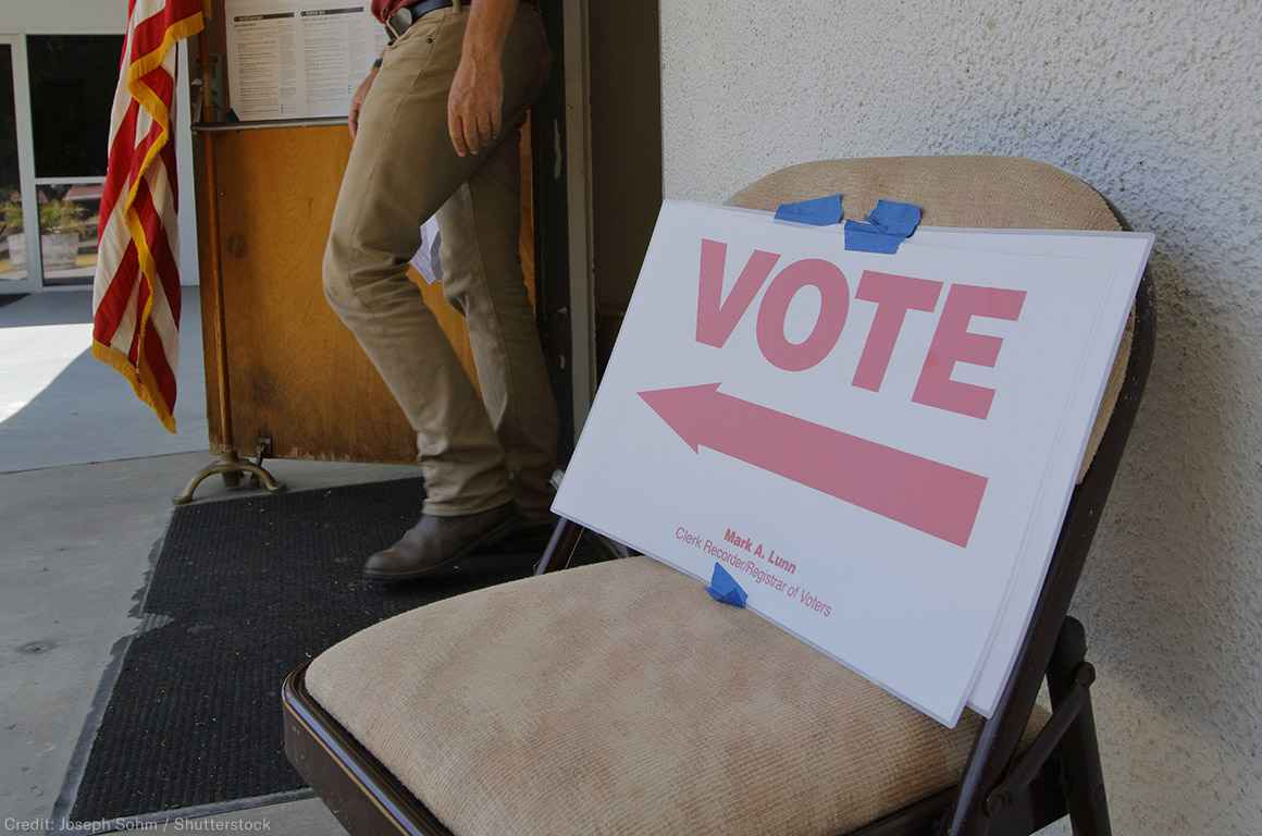 Voting Sign on Chair