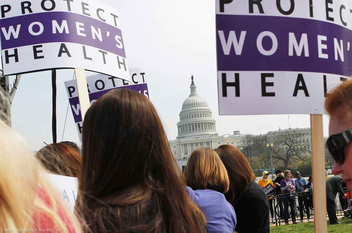 Protect Women's Health Demonstration at Capitol